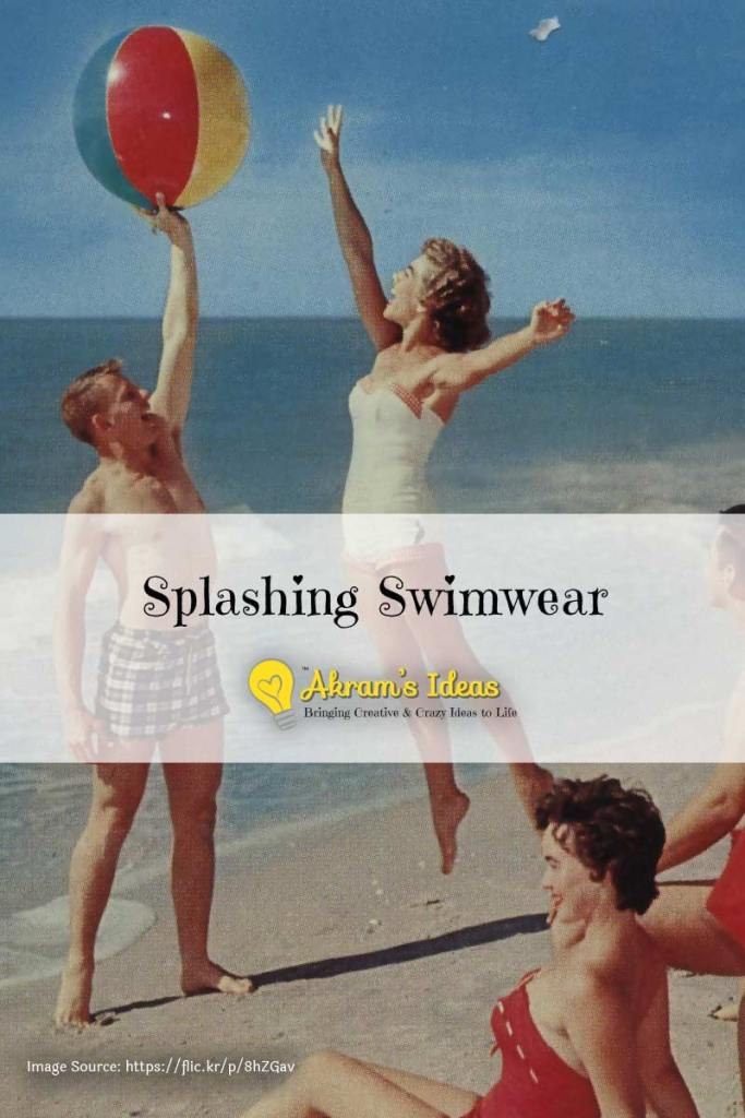 Akram's Ideas - Splashing Swimwear