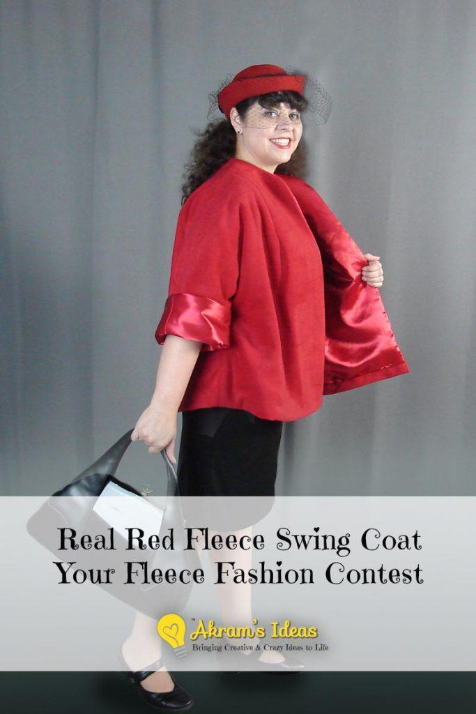 Akram's Ideas Red Fleece Swing Coat