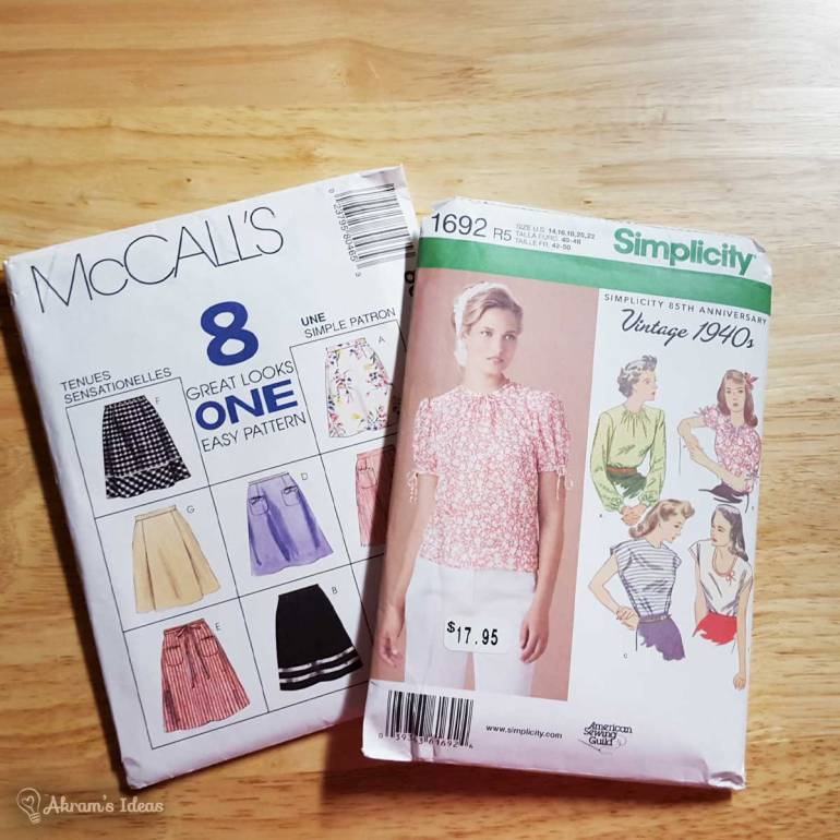 Simplicity 1692 and McCall's 8046