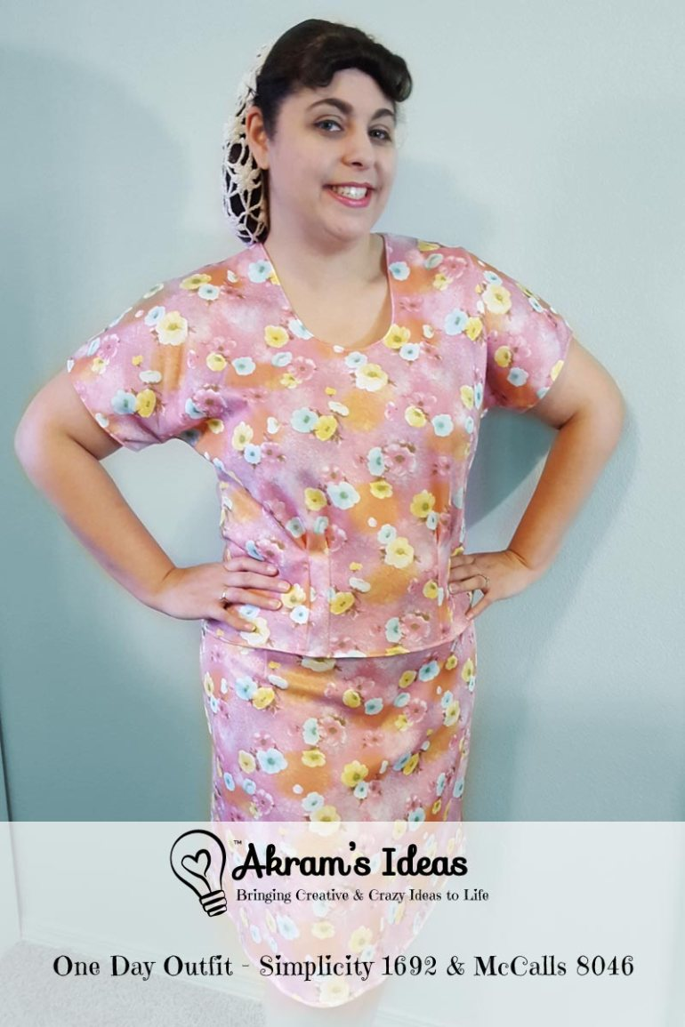 Akram's Ideas: One Day Outfit - Simplicity 1692 & McCalls 8046
