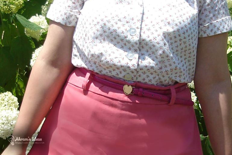 Pairing my Delphine skirt with one of my fave belts
