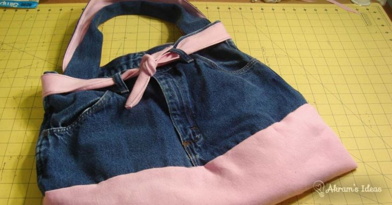 Upcycled Jean Purse