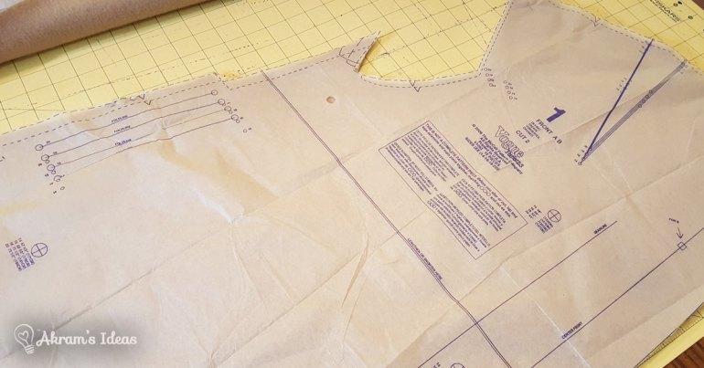 Pattern piece 1 cut out
