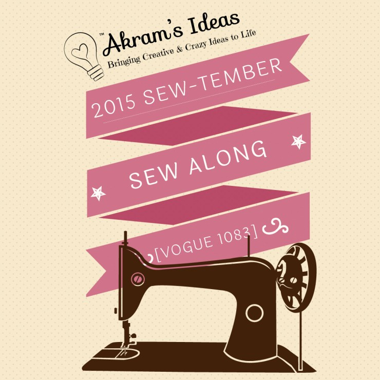 Akram's Ideas : 2015 Sew-tember Sew Along - Vogue 1083