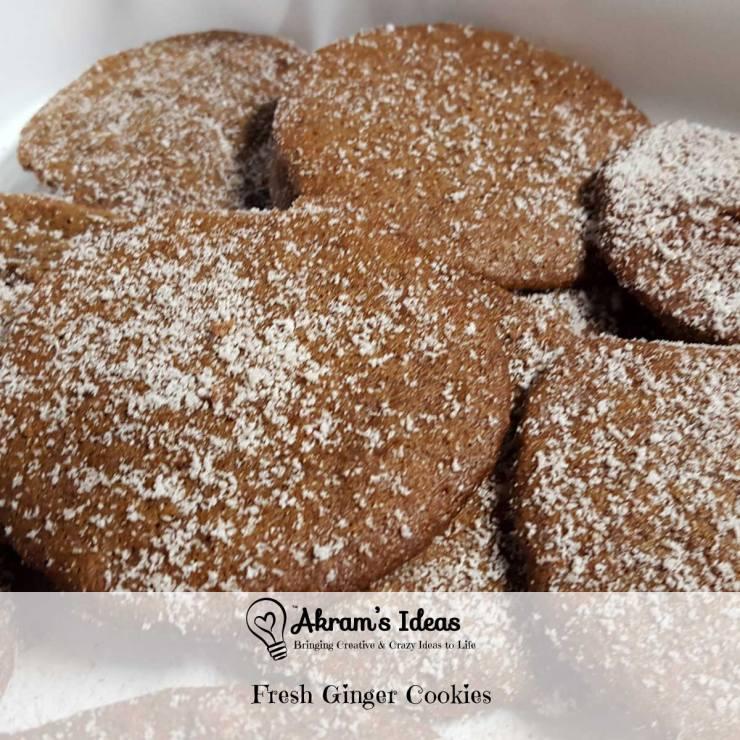 Akram's Ideas: Fresh Ginger Cookies