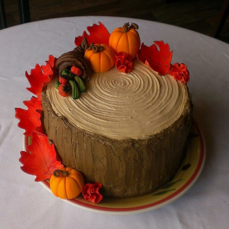 Fall inspiration cake from Cake Centeral