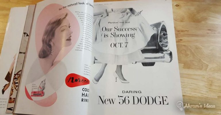 Harper's Bazaar October 1955 - Dodge Ad