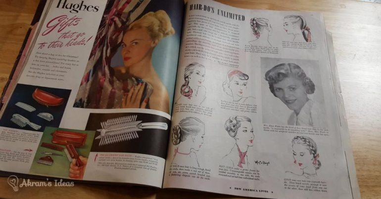 Ladies Home Journal Dec 1947 - Hair-dos