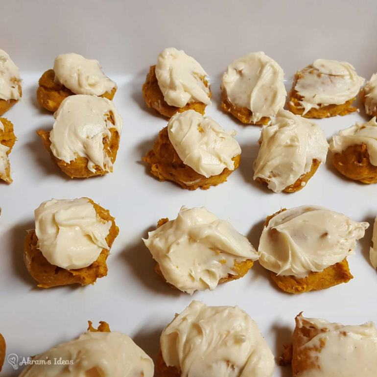 Pumpkin Cake Cookies Frosted