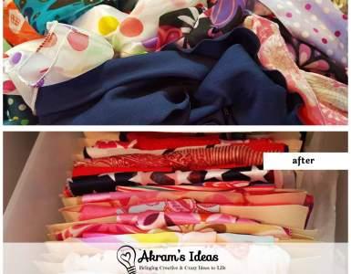 Akram's Ideas: How to Organize Hair Scarves