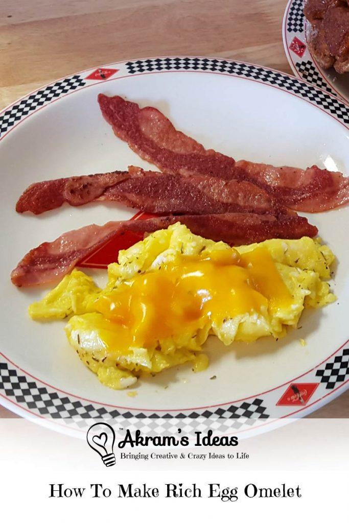 Akram's Ideas Rich Egg Omelet