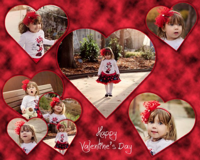 Final Valentine Photo Collage