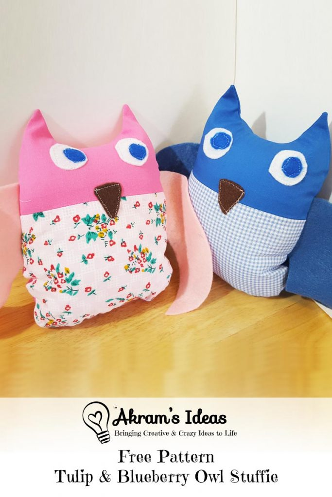 Akram's Ideas: Free Pattern - Tulip & Blueberry Owl Stuffie