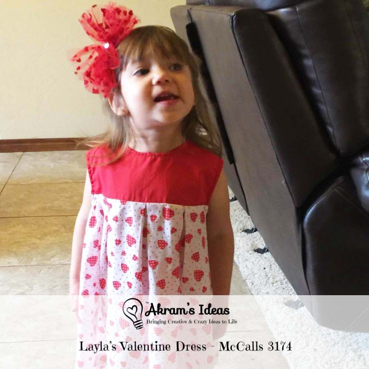 Akram's Ideas: Layla's Valentine Dress - McCall's 3174
