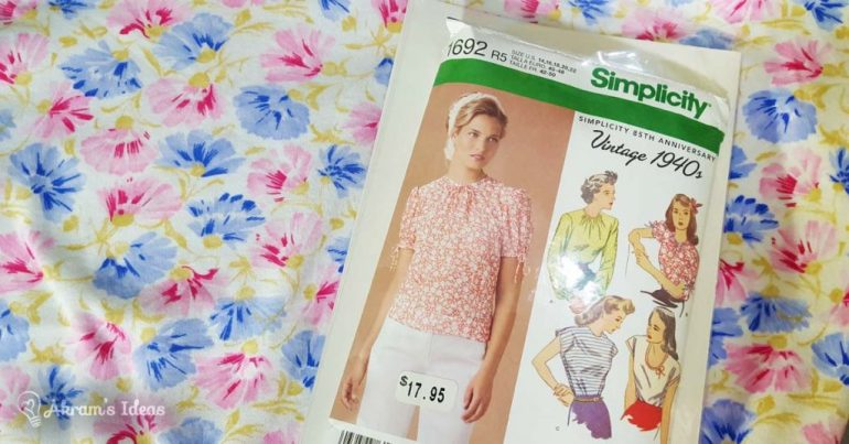Akram's Ideas : floral jersey and Simplicity 1692