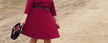 Akram's Ideas: Modcloth Office to Outing Dress - Review of my all new Office to Outing Dress from Modcloth. This burgundy dress is perfect for going to the office to a night on the town.