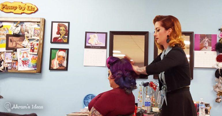 Akram's Ideas: Cherry does hair