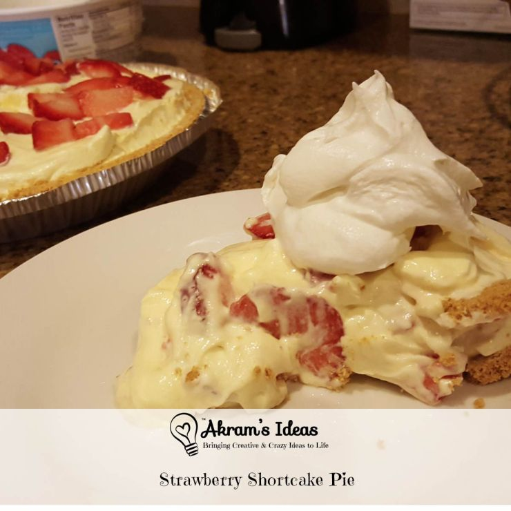 Learn how to make this easy no-bake Strawberry Shortcake Pie, it's a great twist on a classic springtime treat.