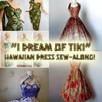 """I dream of Tiki"" Hawaiian dress sew-along!"