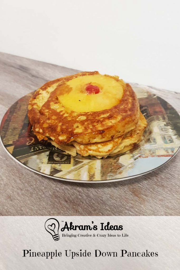 Learn how to make these golden brown sugar Pineapple Upside Down Pancakes perfect for a springtime brunch.