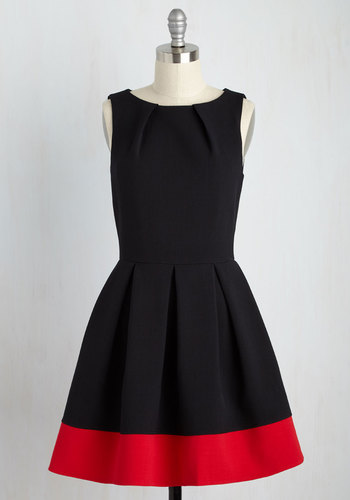 Modcloth Luck Be a Lady Dress in Black and Red