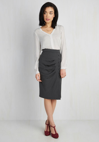 Modcloth A Trip Into Town Skirt in Charcoal