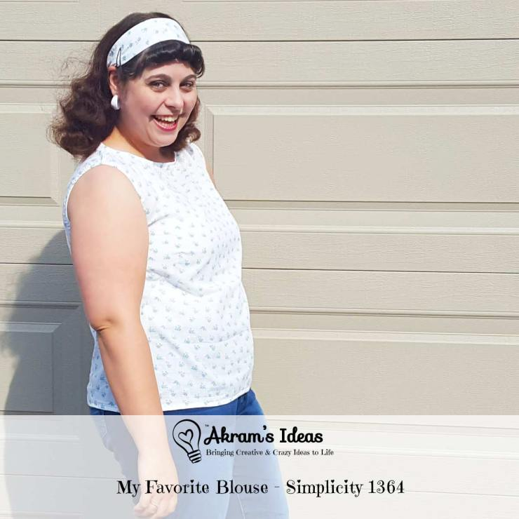 Review of my new favorite blouse pattern, 1960's reproduction of Simplicity 1364 pattern.
