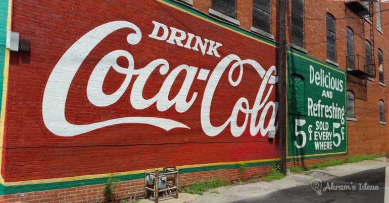 Icon Coca-Cola sign on Route 66 in Sapulpa