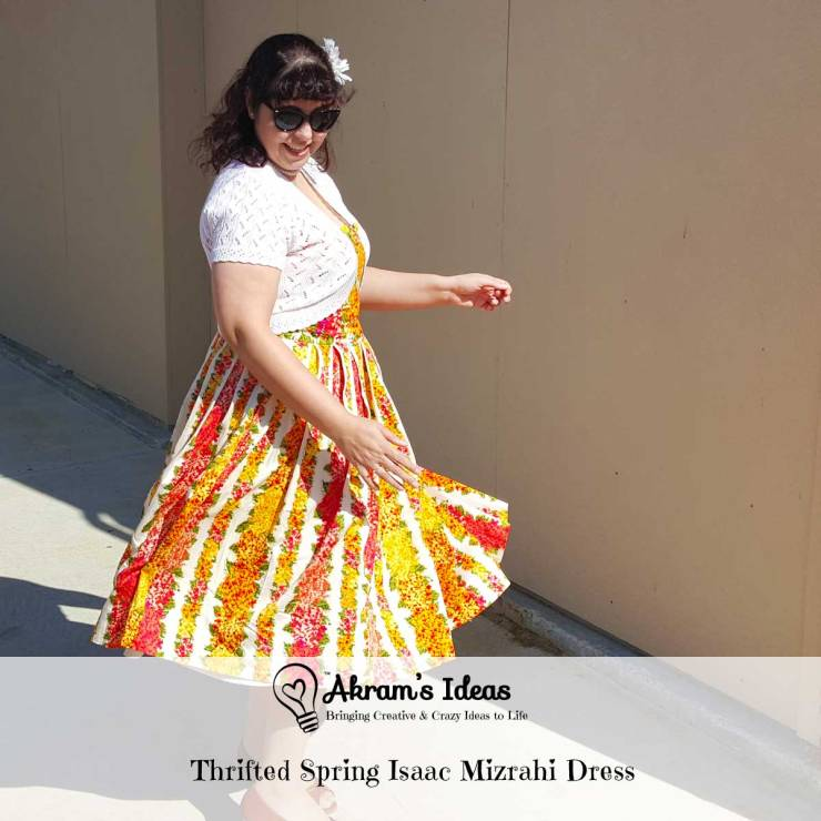 Sharing my lovely newly thrifted Isaac Mizrahi dress which is perfect for spring.