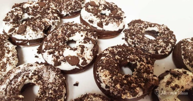 Akram's Ideas : Cookies and Cream Doughnuts