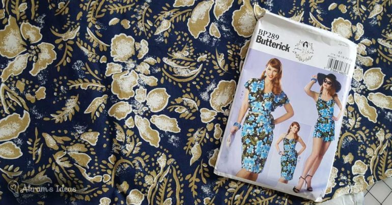 Akram's Ideas: Retro Tiki Collab - Butterick 6354