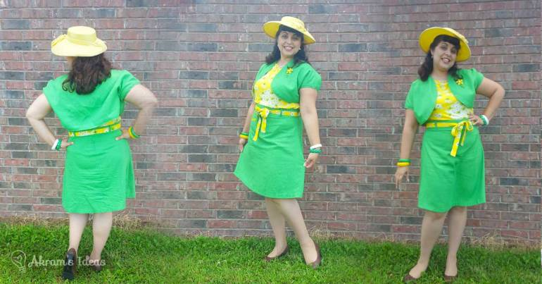 Akram's Ideas: Delphine skirt in green
