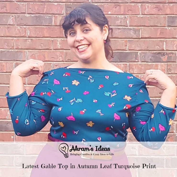A look at my latest Gable Top pattern from Jennifer Lauren Handmade. This time I used a lovely autumn leaf print in turquoise.