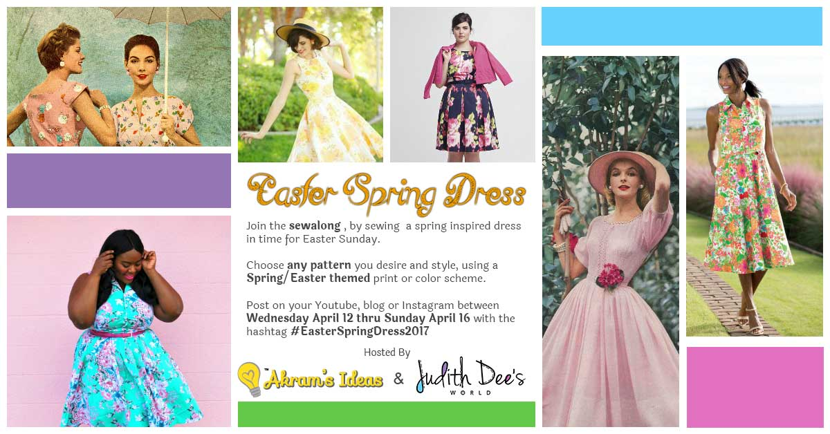 359ca8d3df Inviting you to join the Easter Spring Dress 2017 ( EasterSpringDress2017)  sewalong. Participate