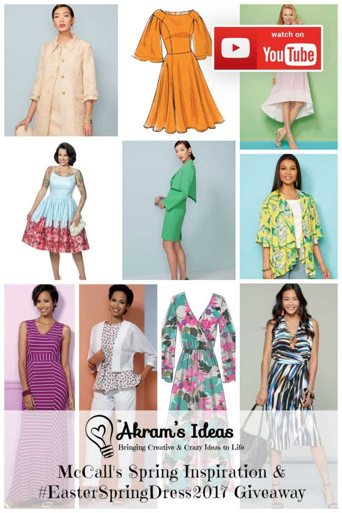 We've teamed up with McCall Pattern Company for the #EasterSpringDress2017 sewalong. Here's some inspiration from McCalls and a giveaway announcement.