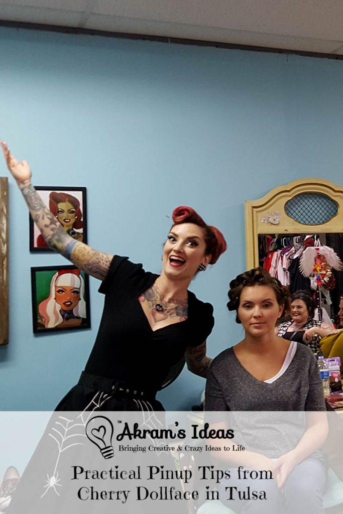 A few practical pinup styling tips I learned at the latest Cherry Dollface workshop in Tulsa, Oklahoma.