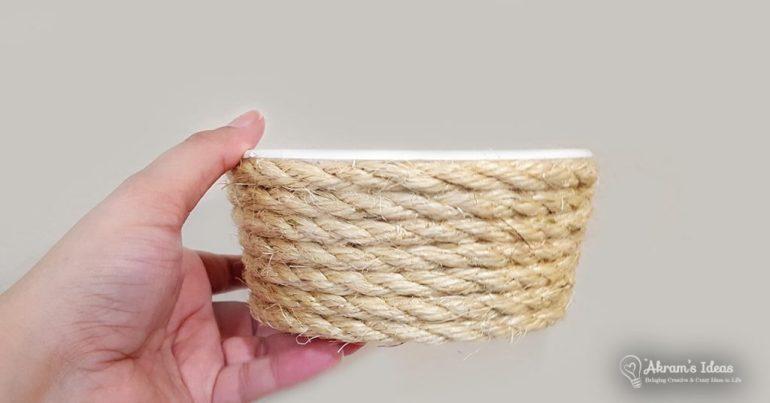Akram's Ideas: DIY Rope Basket