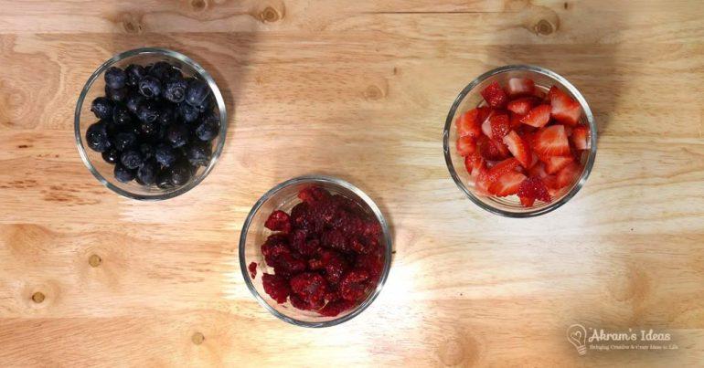 blueberries, raspberries and strawberries