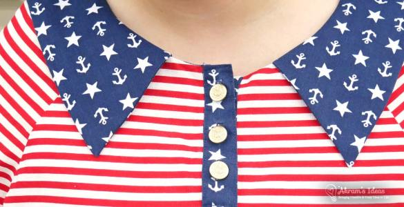 Reveal of my #4thofJulyProudDressProject , a USA themed the Coco Wawa Lily blouse; plus a full pattern review.