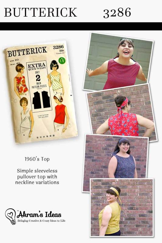 Akram's Ideas: Vintage Pledge Butterick 3286
