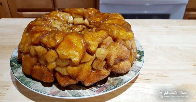Apple Cinnamon Monkey Bread a twist on classic monkey bread by layering it with apple pie filling.