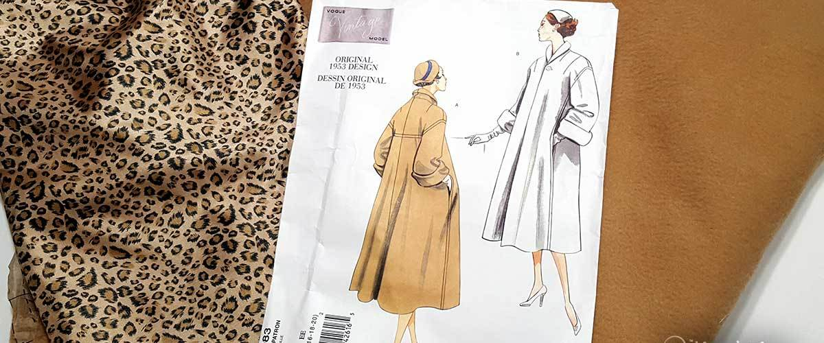 """A look at what's """"On the Sewing Table"""" my autumn 2017 sewing plans, that includes a vintage swing coat and a sci-fi Blade Runner Halloween costume."""