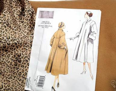 "A look at what's ""On the Sewing Table"" my autumn 2017 sewing plans, that includes a vintage swing coat and a sci-fi Blade Runner Halloween costume."