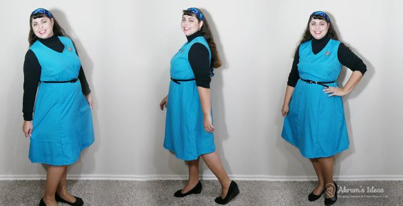 Review of my latest Vintage Pledge make Simplicity 5890 a jumper dress.