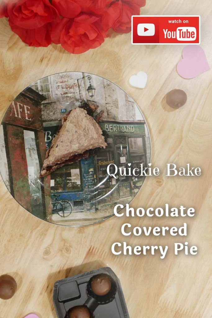 With Valentine just around the corner ditch, the chocolate for this rich and creamy Chocolate Covered Cherry Pie. Oh, and it's a quick bake.