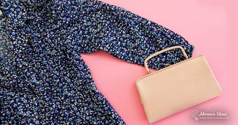 Sew Over It - Vintage Shirt Dress paired with vintage pink purse