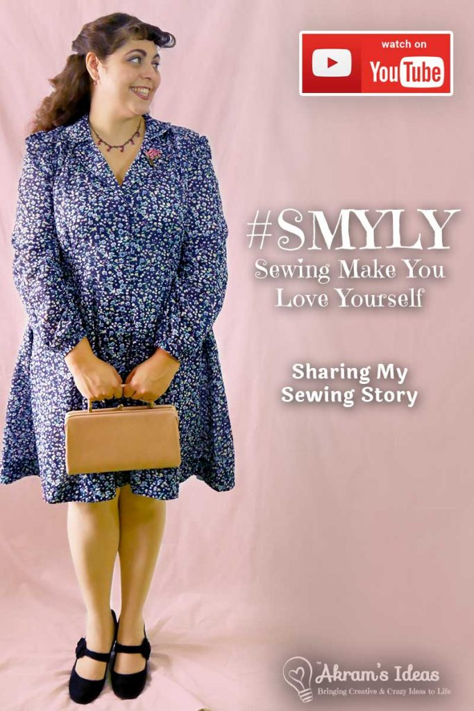 My latest Sew Over It Vintage Shirtdress made for the  #SMYLY (Sewing Makes You Love Yourself) tag encourages sewist to share their sewing story highlighting how sewing has helped them with mental health and/or body positivity.