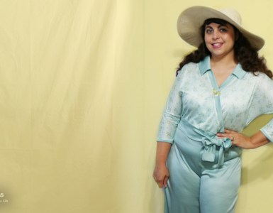 Review of the all-new SMYLY pattern the Abi Jumpsuit, an extension of the Samantha dress, which I may have styled as 1930's beach pajamas.