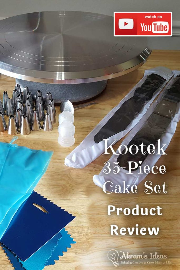 Sharing an all new fave find and review of the Kootek 35-Piece Cake Deocrating Set.