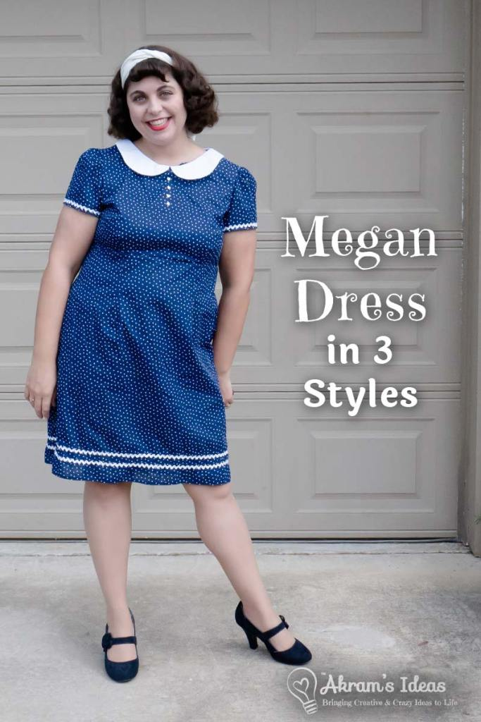 Sharing my 3 Variations of the Megan Dress from Tilly & The Buttons, Love at First Stitch book and another 2018 Make Nine project marked off the list.